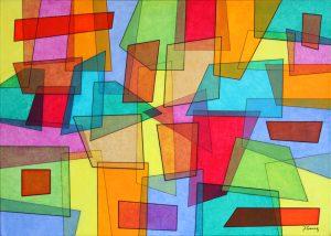peinture geometrique artiste peintre joel gomez